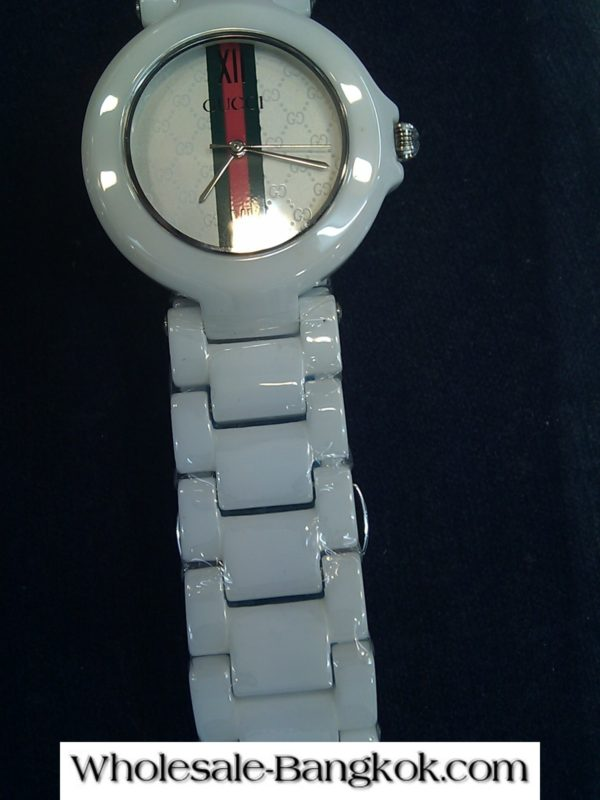 WHITE GUCCI WATCH FROM MBK MALL BANGKOK THAILAND