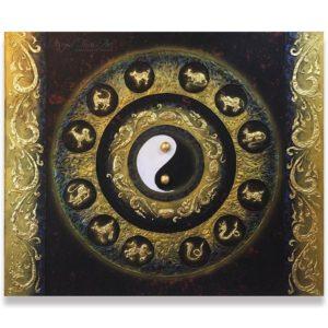 Bangkok Painting Contemporary Painting Yin Yang and Thai Zodiacs