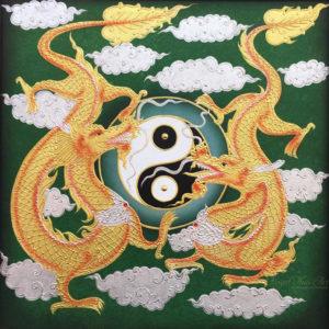 Bangkok Painting Dragon Art Ecstatic Ying Yang