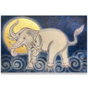 Bangkok Painting Elephant Art Mythical Erawan God