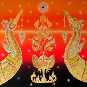 Bangkok Painting Famous Animal Painting Ancient Thai Supannahong