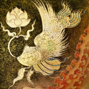 Bangkok Painting Fish Art Ancient Thai