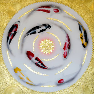 Bangkok Painting Lotus Flower Japanese Koi Painting