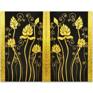 Bangkok Painting Lotus Painting Classical Gold Color