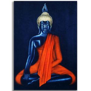 Bangkok Painting Meditating Buddha Canvas Painting