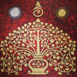 Bangkok Painting Oriental Bodhi Tree Art