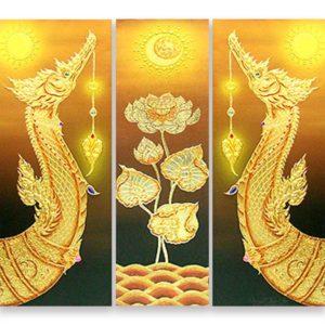 Bangkok Painting Thai Royal Barge Suphannahong Painting