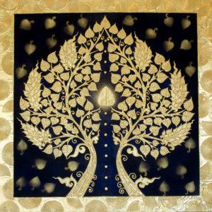 Bangkok Painting Unique Art Banyan Tree Painting