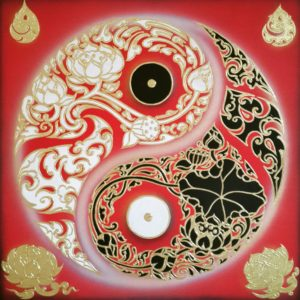 Bangkok Painting Yin Yang Art Original Abstract Painting