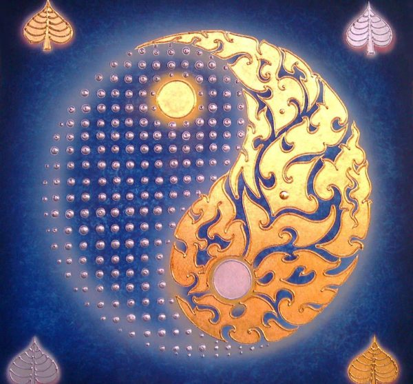 Bangkok Painting Yin Yang Painting Abstract Art
