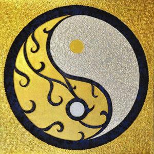 Bangkok Painting Yin and Yang Symbol Original Abstract Art
