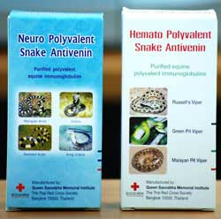Thailand Escrow Service Red Cross Snake Bites Hemato Polyvalent Snake Antivenom for Malayan Pit Viper, Green Pit Viper, and Russell's Viper